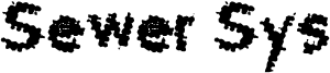 Sewer Sys Font