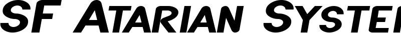 SF Atarian System Extended Bold Italic.ttf