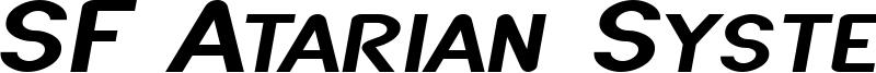SF Atarian System Extended Italic.ttf