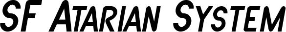 SF Atarian System Italic.ttf