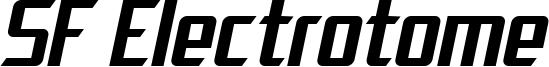 SF Electrotome Oblique.ttf