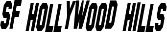 SF Hollywood Hills Condensed Italic.ttf