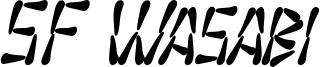 SF Wasabi Condensed Bold Italic.ttf