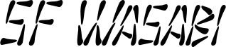SF Wasabi Condensed Italic.ttf