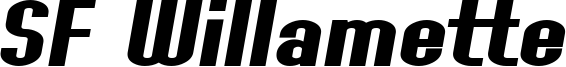 SF Willamette Extended Bold Italic.ttf