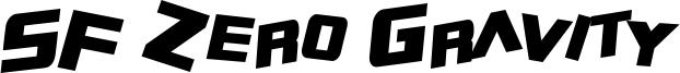 SF Zero Gravity Condensed Bold Italic.ttf