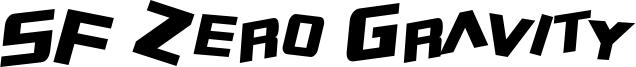 SF Zero Gravity Condensed Italic.ttf