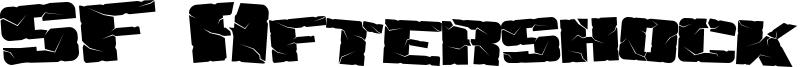 SF Aftershock Debris Font