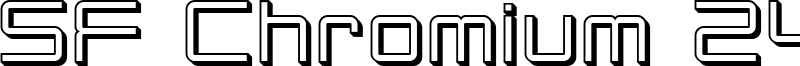 SF Chromium 24 Font