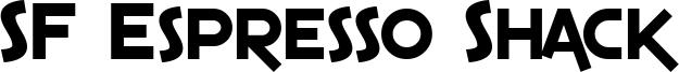 SF Espresso Shack Font