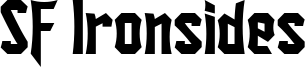 SF Ironsides Font