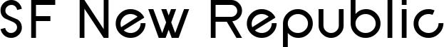 SF New Republic Font