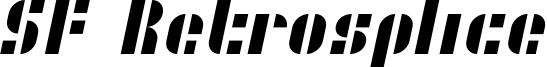 SF Retrosplice Font