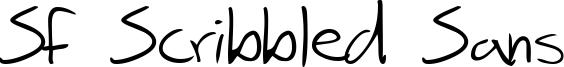 SF Scribbled Sans Font