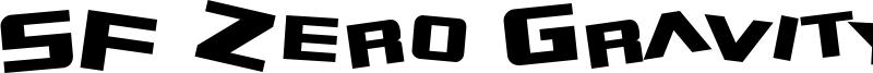 SF Zero Gravity Font