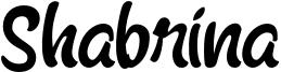 Shabrina Font
