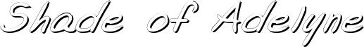 Shade of Adelyne Font