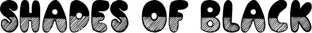 Shades of Black Font