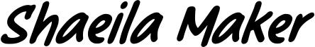 Shaeila Maker Font