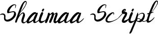 Shaimaa Script Font