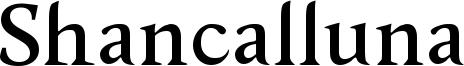 Shancalluna Font