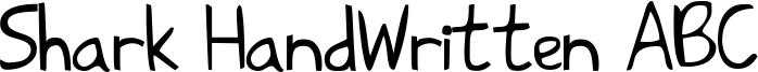 Shark HandWritten ABC Font