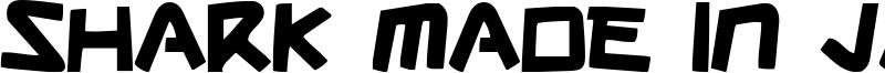 Shark Made In Japan Font