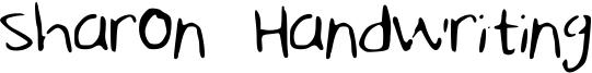 Sharon Handwriting Font