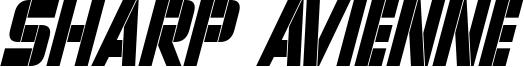 Sharp Avienne Condensed Italic.otf