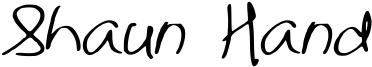 Shaun Hand Font