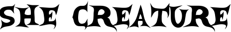 She Creature Font