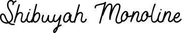Shibuyah Monoline Font