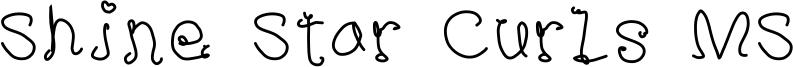 Shine Star Curls MS Font