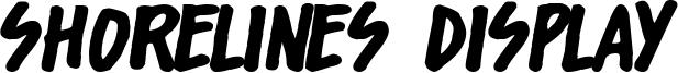 Shorelines Display Font