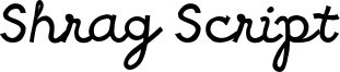 Shrag Script Font