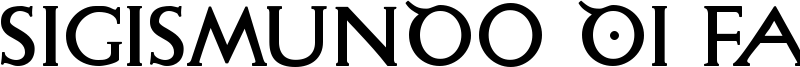 Sigismundo Di Fanti Font