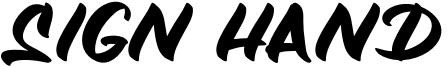 Sign Hand Font