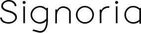 Signoria Font