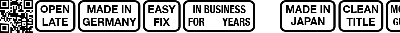Signs for Advertising Font