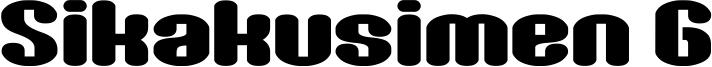 Sikakusimen G Font