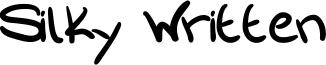 Silky Written Font