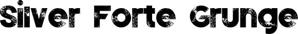 Silver Forte Grunge Font