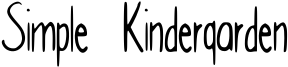 Simple Kindergarden Font