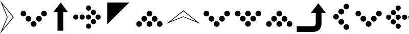SimpleDirectionArrows Font