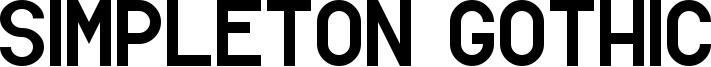 Simpleton Gothic Font