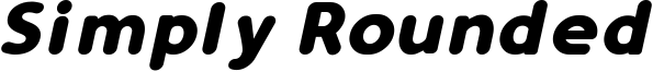 Simply Rounded Bold Italic.ttf