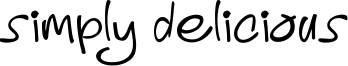 Simply Delicious Font