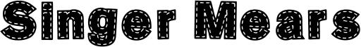 Singer Mears Font