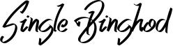 Single Binghod Font