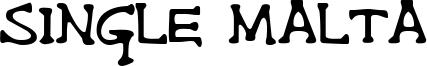 Single Malta Font